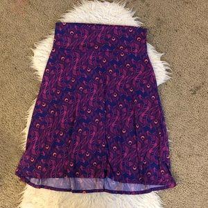 LuLaRoe Azure purple feather skirt